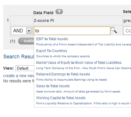 Numerus Industry Data Search - Data Attributes