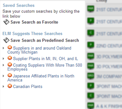 Numerus Industry Data Search - Save Search Results